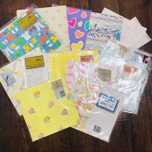 Large Lot of Vintage Wrapping Paper Hallmark Party